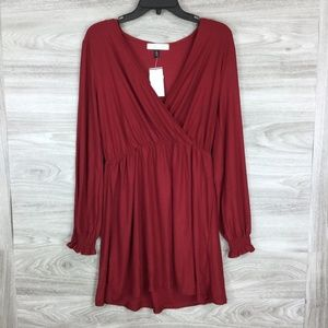 Planet Gold Long Sleeve Ruched Wrist Dress